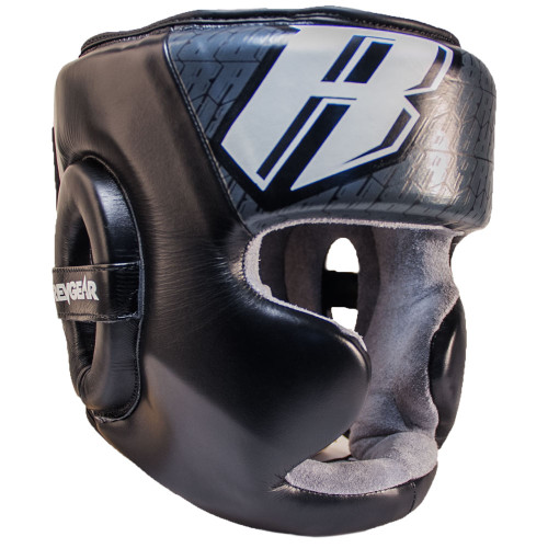 Champion II Headgear With Chin - Black