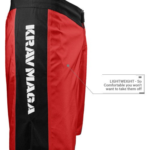 Krav Maga Black Ops One Shorts - Red/Black