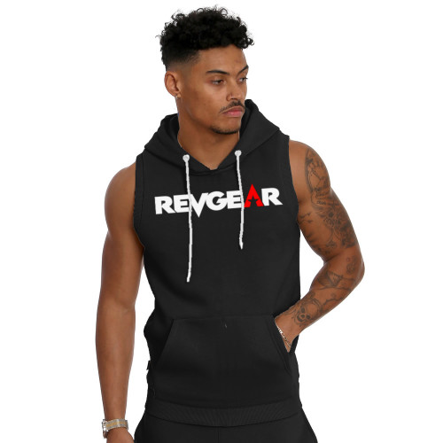 Sleeveless Pullover Hoody - Black