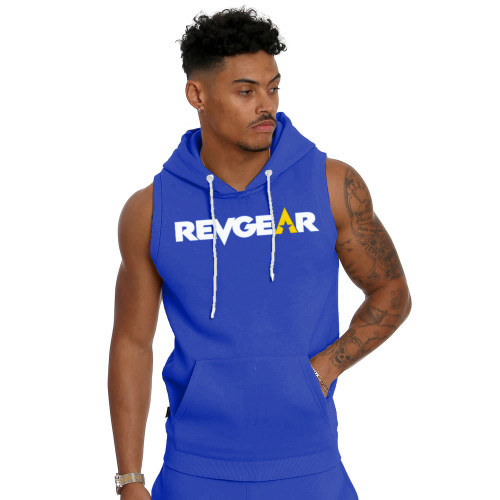 Sleeveless Pullover Hoody - Blue