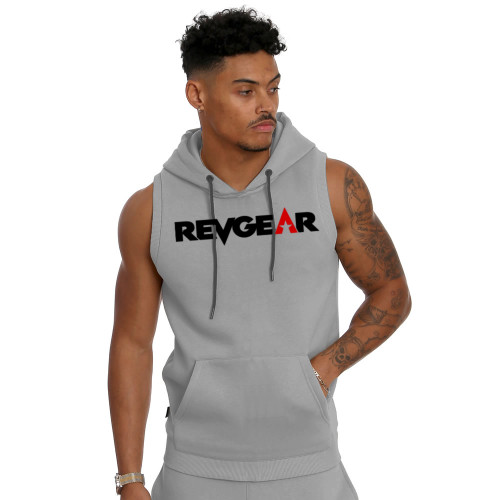 Sleeveless Pullover Hoody - Gray