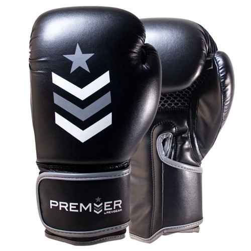 Premier Deluxe Boxing Glove - Black/Grey