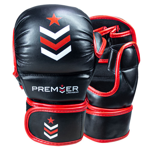 Premier Deluxe MMA Training Glove - Black/Red