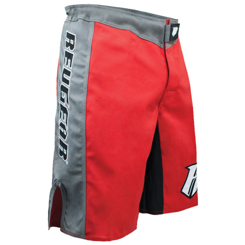 Spartan Pro III Fight Shorts - Red/Grey