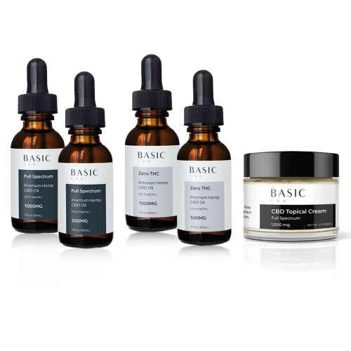 Basic CBD Start Pack 1 - CBD Oil and Cream