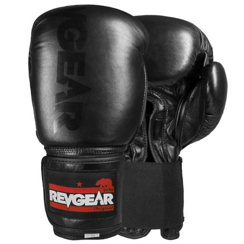 Sentinel S3 Pro Leather Gel Boxing Gloves - LIMITED EDITION - Black/Black