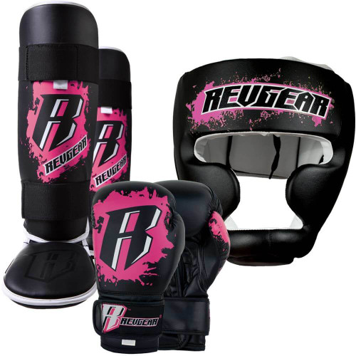 Deluxe Weight Lifting Gloves St12007: Pink Kids Kickboxing Gear Kit By Revgear