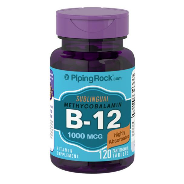 Methylcobalamin B-12 (Sublingual) 1000mcg - 120 Fast Dissolve Tablets
