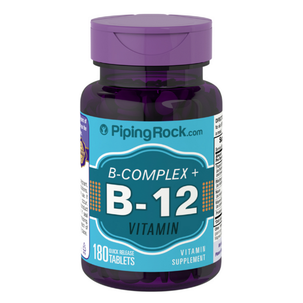 B Complex Plus Vitamin B12 - 180 Tablets
