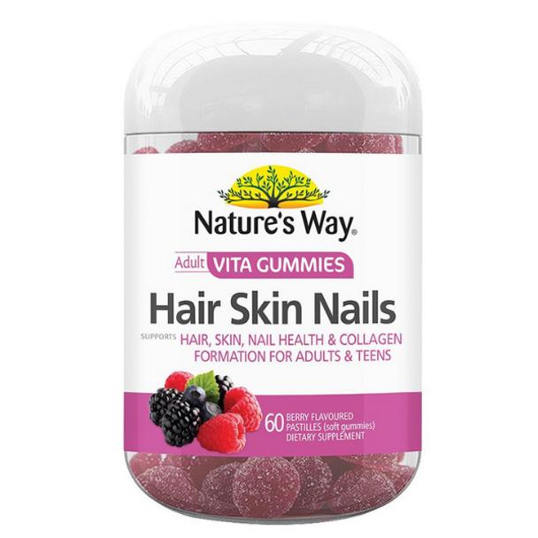 Adult Vita Gummies Hair Skin Nails - 60 Gummies