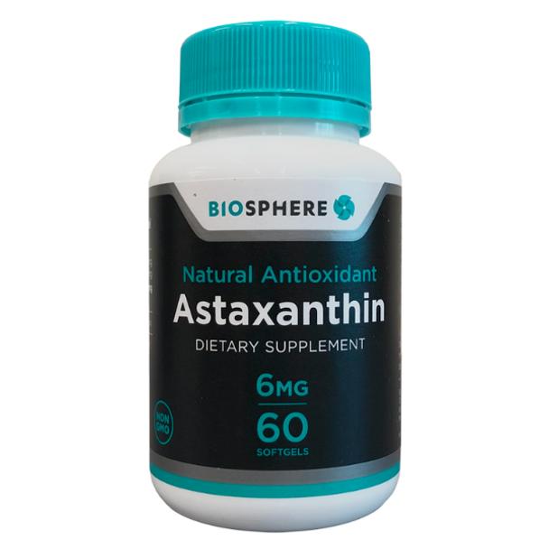 Astaxanthin (Natural Antioxidant) - 60 Softgels
