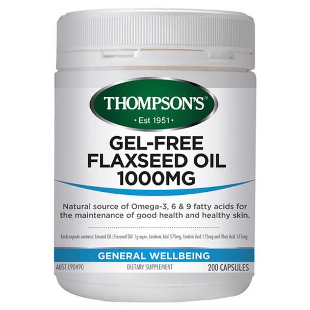 Gel-Free Flax Seed Oil 1000mg - 100 Capsules