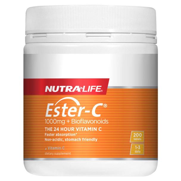 Ester C 1000mg + Bioflavonoids - 200 Tablets