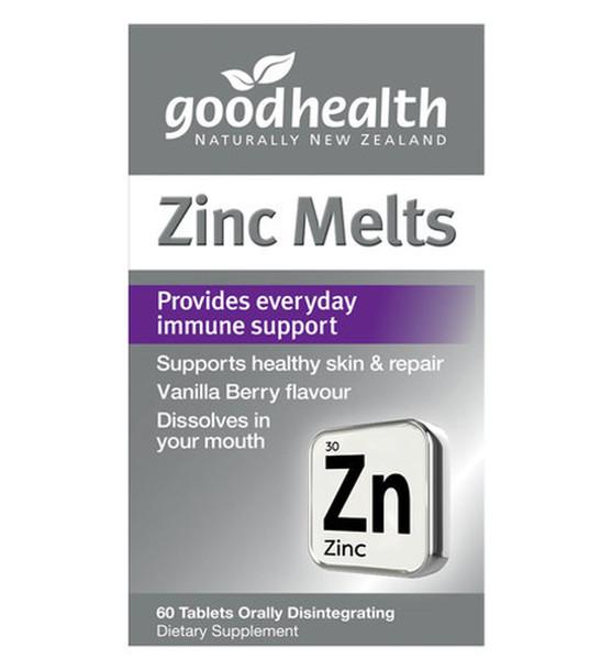 Zinc Melts - 60 Tablets