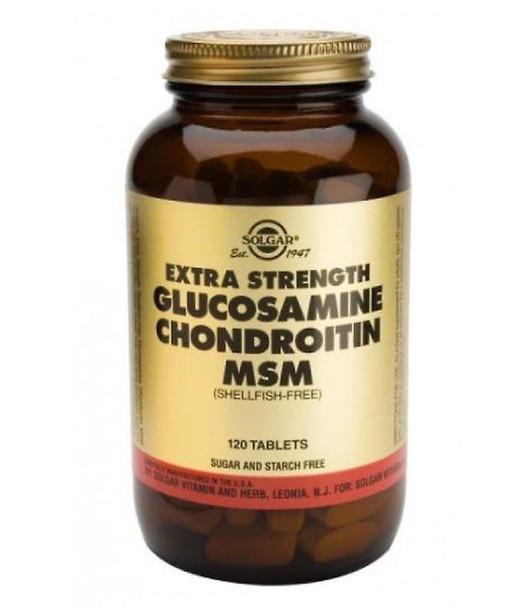 Extra Strength Glucosamine Chondroitin MSM - 120 Tablets