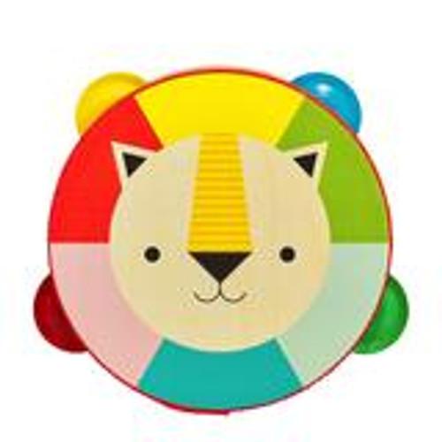 Kaleidoscope Wooden Lion Tambourine