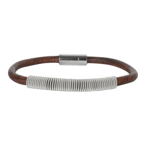 Wound Up Leather Bracelet - Brown