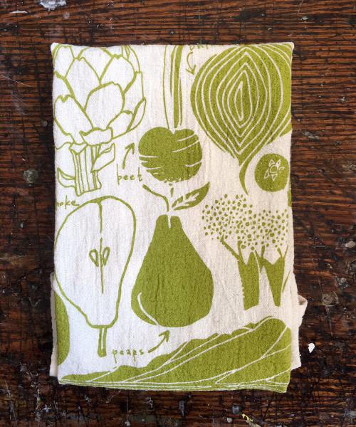 Fruit and Veggie Tea Towel