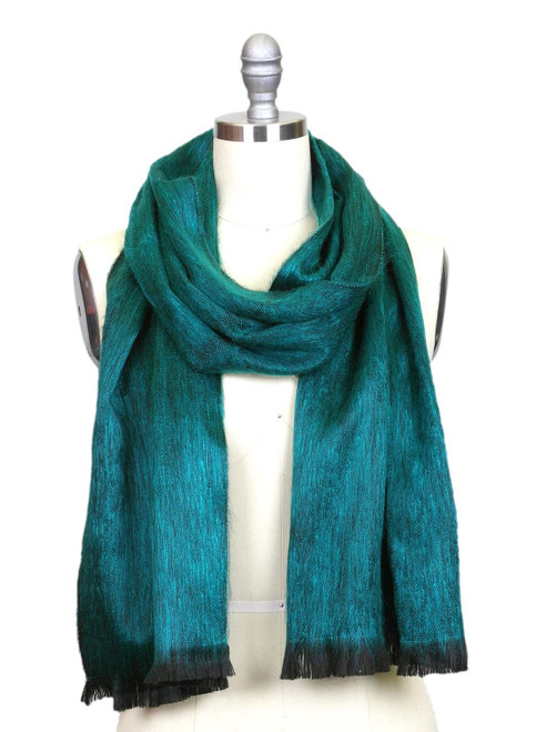 Emerald Brushed Alpaca Scarf