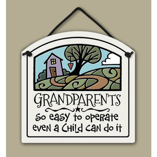 Handmade Ceramic Tile - Grandparents