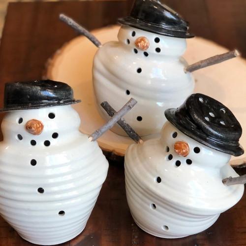 Hand-thrown Melted Snowmen
