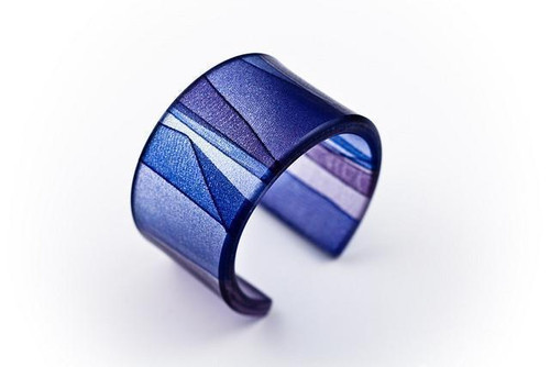 Ecoresin Mirage Twilight  Wide Cuff Bracelet