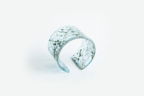 Ecoresin Whisper Robin  Wide Cuff Bracelet
