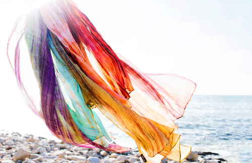 Hand-dyed Watercolor Scarves in Pure Silk - 8 Colors!
