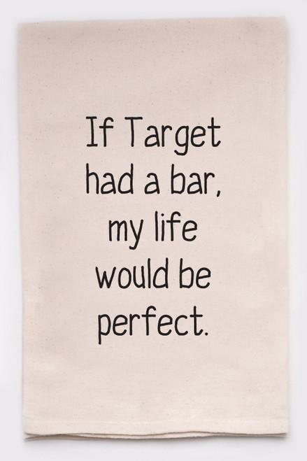 If Target Handprinted Tea Towel