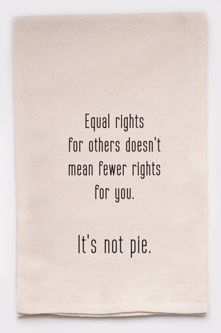 Equal Rights Handprinted Tea Towel