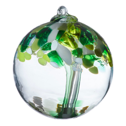 Tree of Well Being Handblown Glass Orb