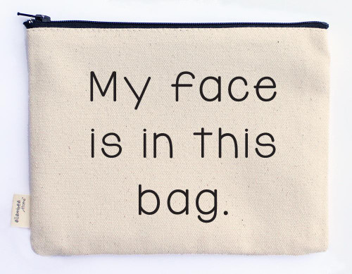 My Face Hand-printed Pouch