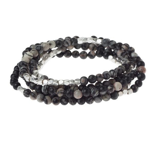 Black Network Agate - Stone of Inner Stability