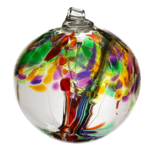 Handblown Glass Orb - Tree of Life