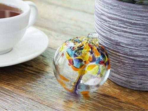 Handblown Glass Orb - Tree of Celebration