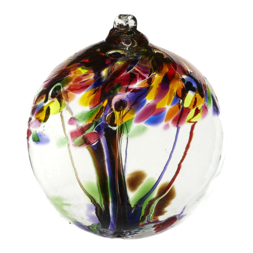 Handblown Glass Orb - Tree of Celebration