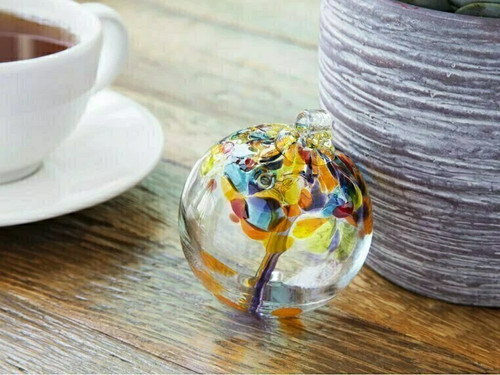 Handblown Glass Orb - Tree of Unity