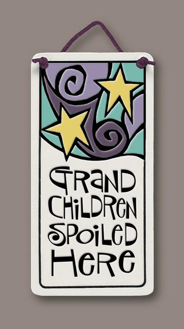 Handmade Ceramic Tile - Grandchildren