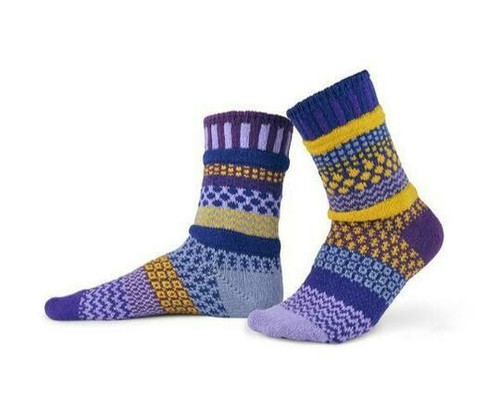 Fun, Colorful, Eco-friendly and American Made Socks - Purple Rain