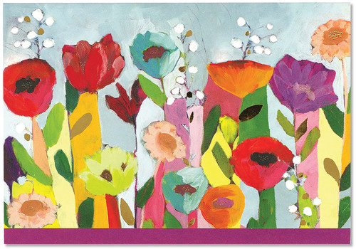 Brilliant Floral Note Card