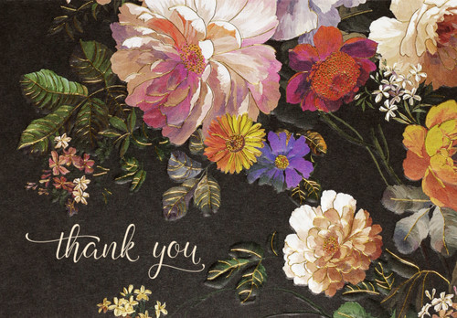 Midnight Floral TY Note Cards