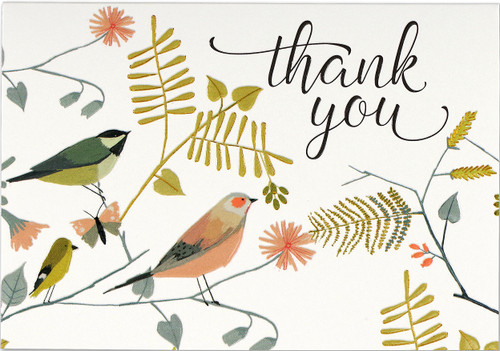 Songbirds Thank You Note Cards