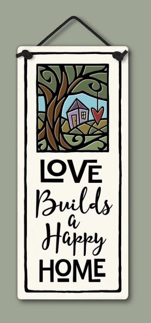 Handmade Ceramic Tile - Love Builds