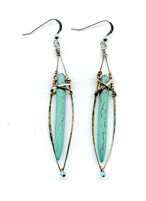 Turquoise Stalactite Earrings