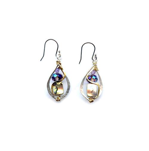 Crescent Abalone Earrings