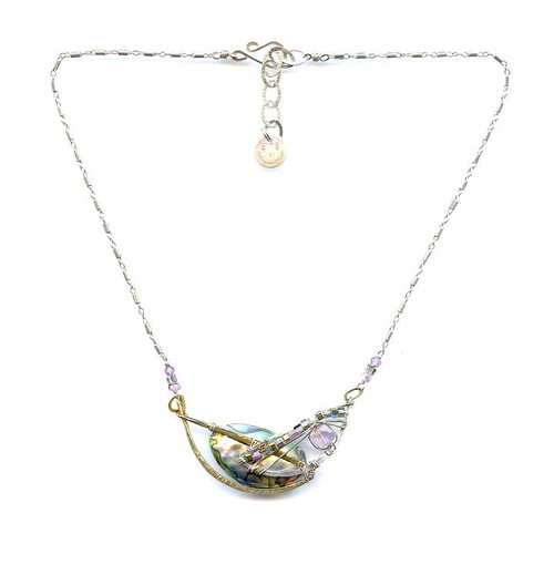 Crescent Abalone Necklace