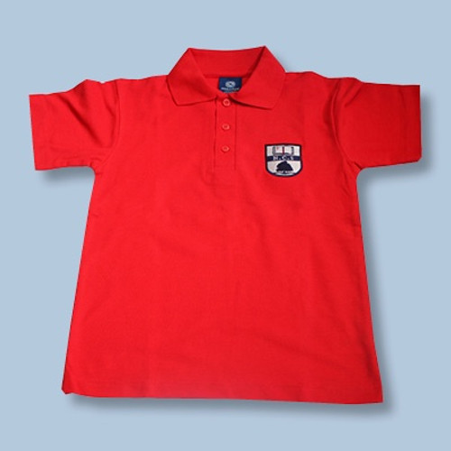 Shirt Red Polo Short Sleeve Primary