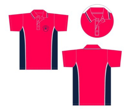 Shirt Red&Navy Polo Primary