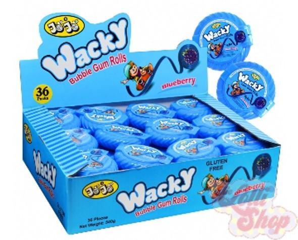 Wacky Bubble Gum Roll Blue Raspberry 15g