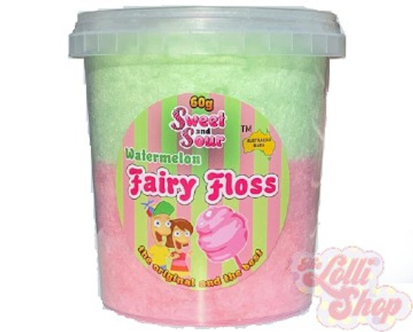 Sweet and Sour - Fairy Floss Watermelon 60g